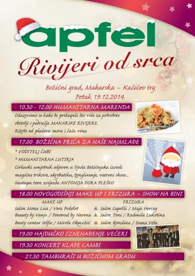 Naš član Apfel d.o.o. pripremio je pregršt događanja u petak u Božićnom gradu u Makarskoj
