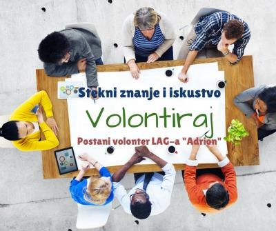 """Poziv za volontiranje u LAG-u """"Adrion"""""""